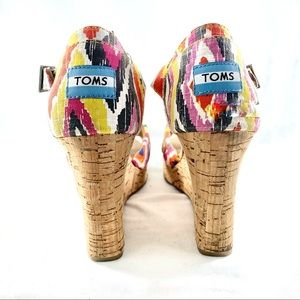 Toms Colourful Wedge Cork Heels